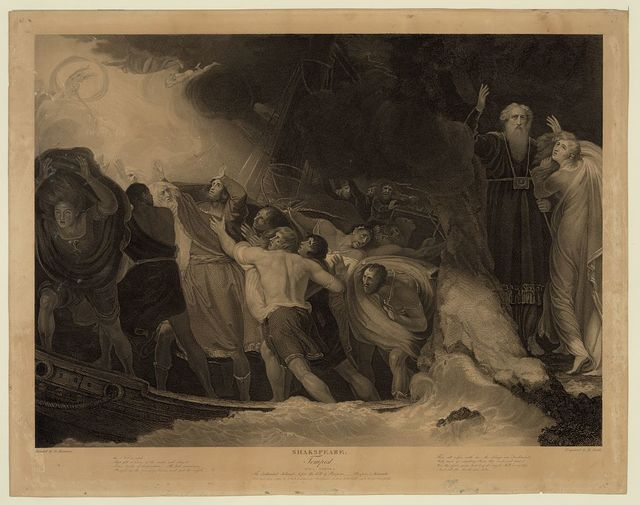 Shakspeare - Tempest, act 1, scene 1 / painted by G. Romney ; engraved by B[enjamin?] Smith.
