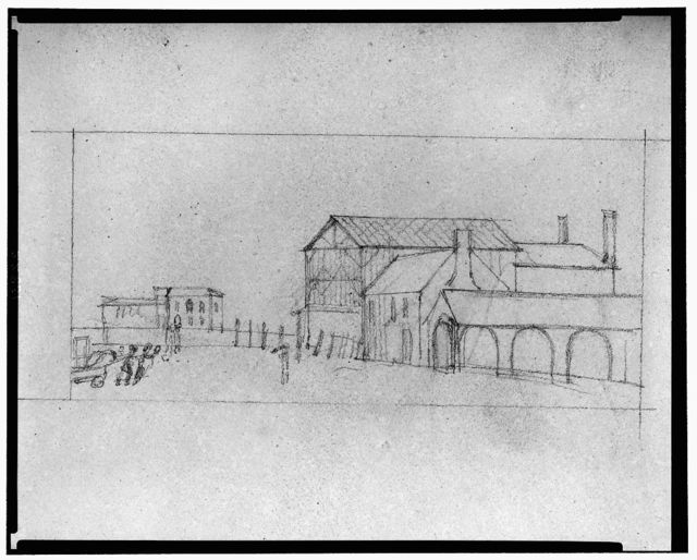 "[Theater and hotel building (""Theatre, Assembly Rooms and an hotel""), Richmond, Virginia. 8--perspective sketch]"