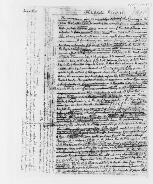 Thomas Jefferson to Aaron Burr, June 17, 1797, with Draft