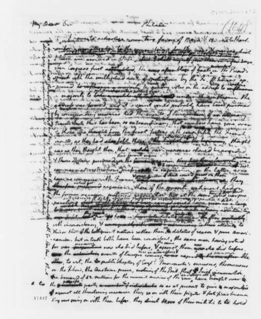 Thomas Jefferson to Edward Rutledge, June 24, 1797, with Draft