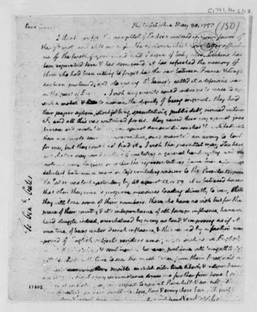 Thomas Jefferson to Horatio Gates, May 30, 1797