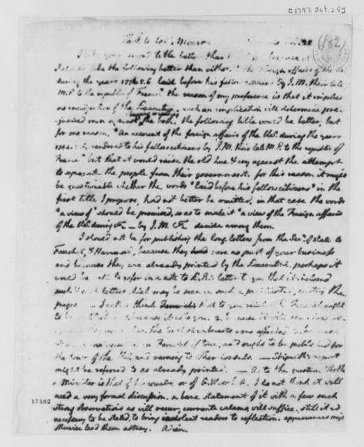 Thomas Jefferson to James Monroe, October 25, 1797