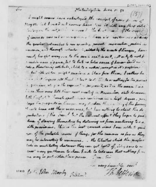 Thomas Jefferson to John Moody, June 13, 1797