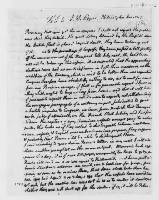 Thomas Jefferson to John Wayles Eppes, December 21, 1797
