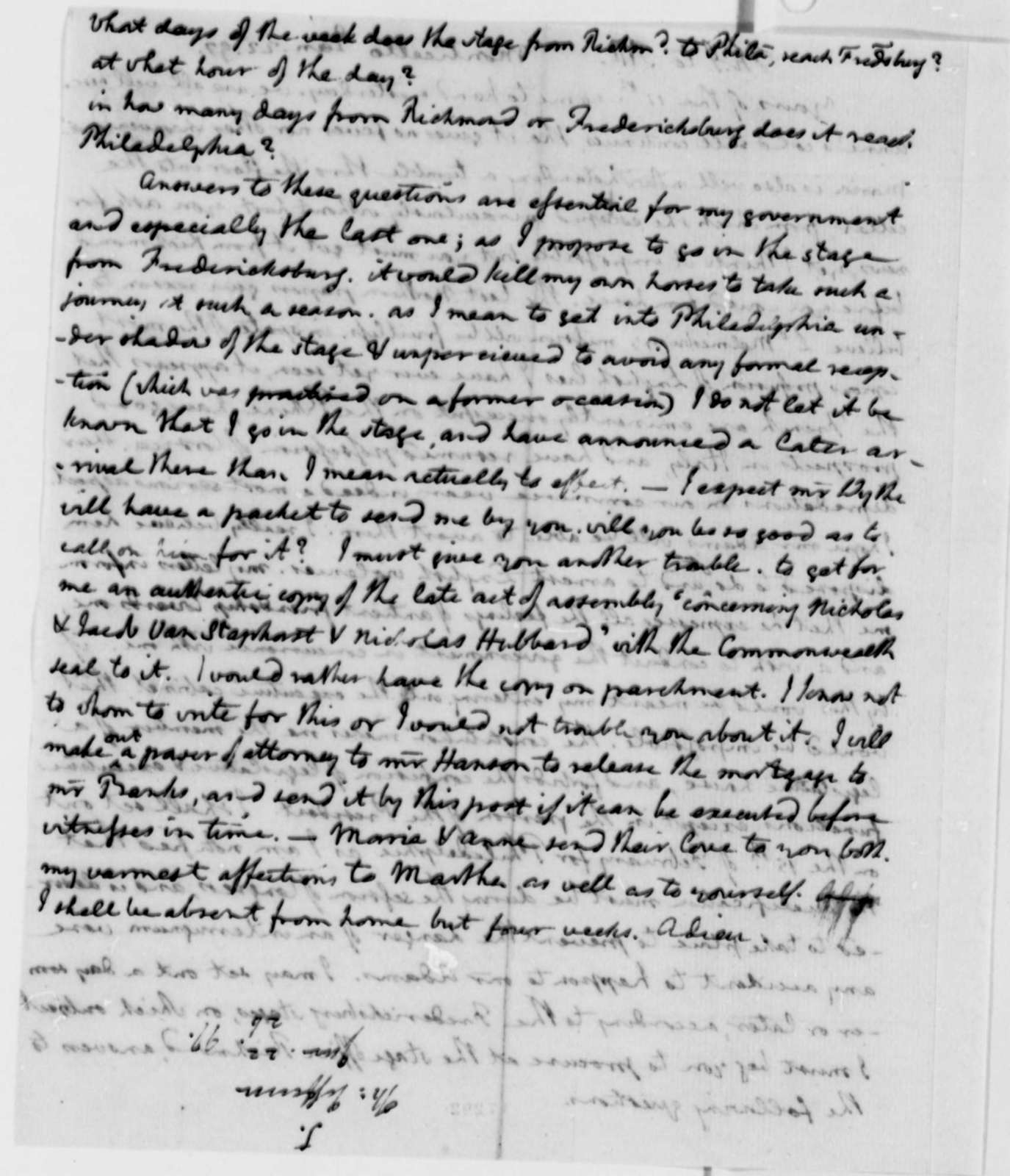 Thomas Jefferson to Thomas Mann Randolph, Jr., January 22, 1797