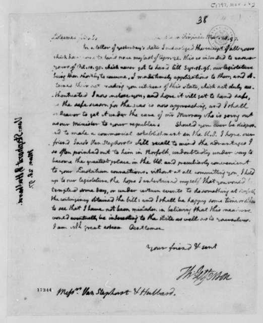 Thomas Jefferson to Van Staphorst & Hubbard, March 28, 1797