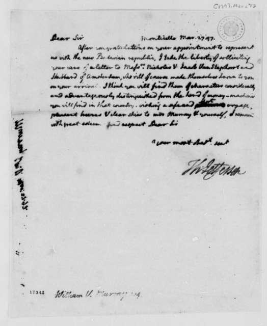 Thomas Jefferson to William Murray, March 27, 1797