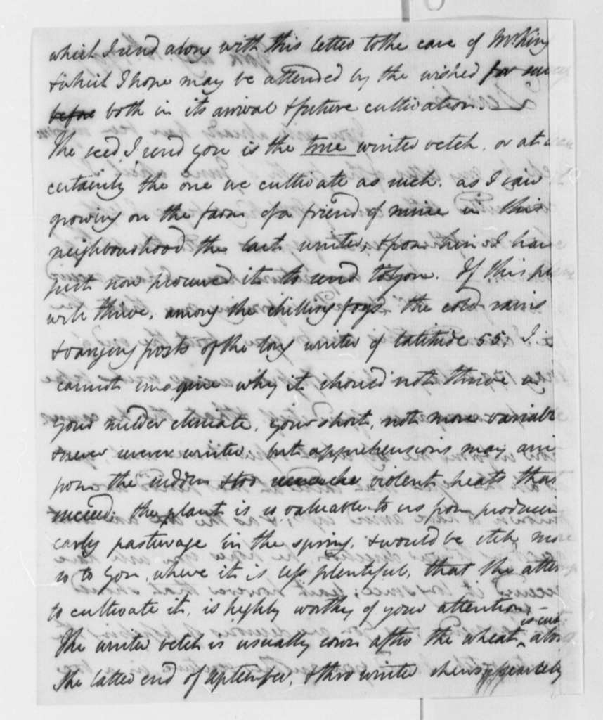 William Strickland to Thomas Jefferson, August 18, 1797