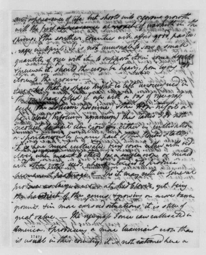 William Strickland to Thomas Jefferson, August 18, 1797