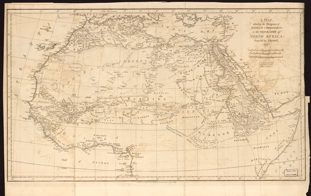 A map shewing the progress of, discovery & improvement, in the geography of North Africa /