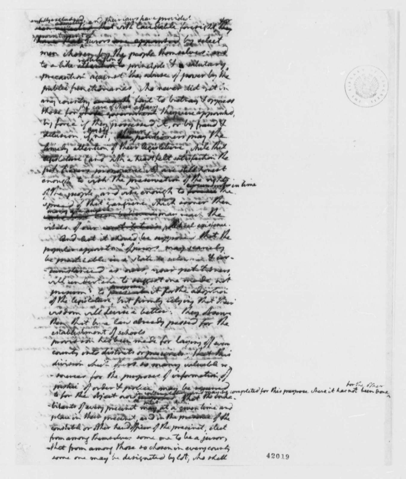 Albemarle County, Virginia to Virginia General Assembly, December 24, 1798, Petition