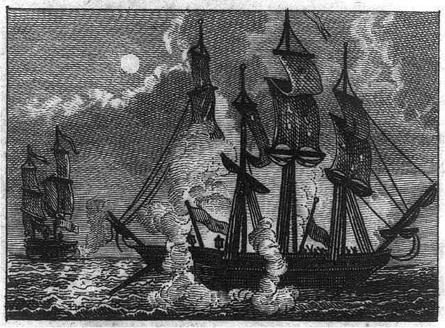 Battle between BONHOMME RICHARD and SERAPIS, Sept. 23, 1779