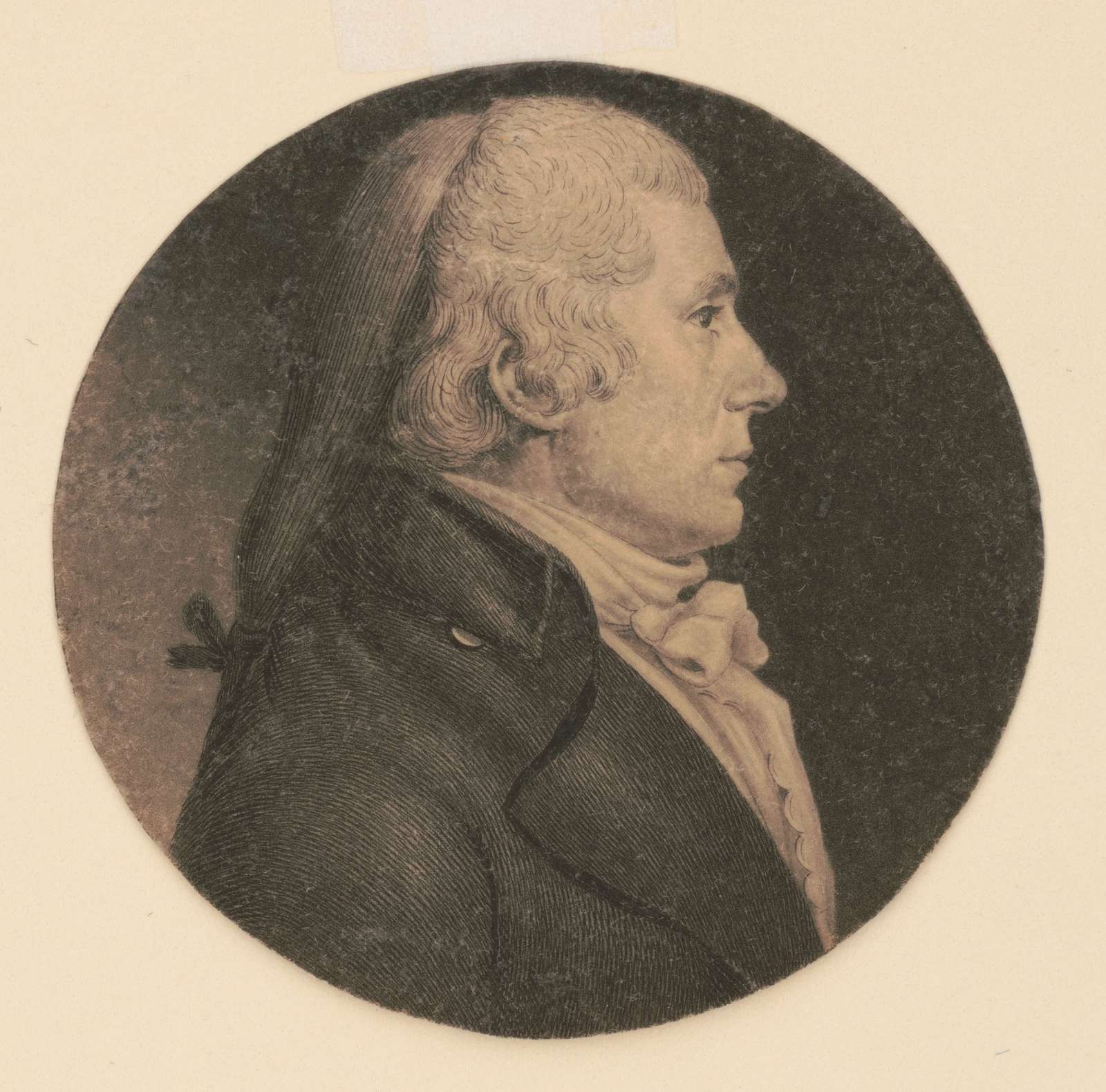 Charles Grove, head-and-shoulders portrait, right profile