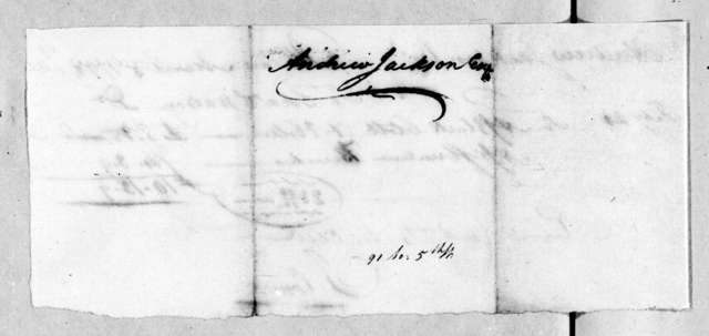 Charles Watson to Andrew Jackson, March 8, 1798