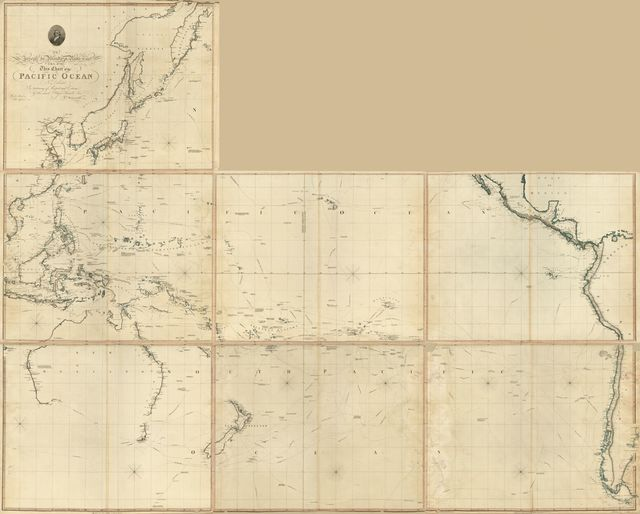 Chart of the Pacific Ocean : drawn from a great number of printed and ms. journals /