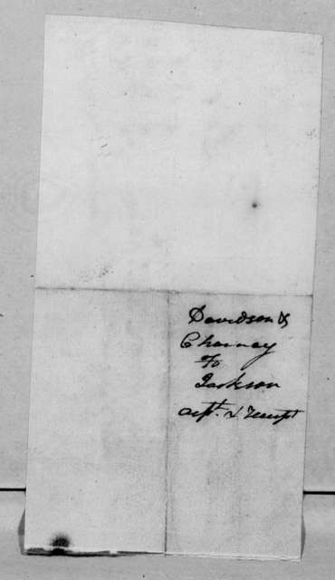 Davison & Cheyney to Andrew Jackson, March 21, 1798