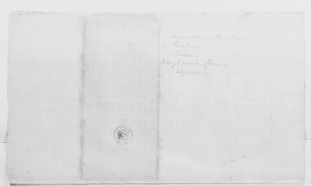 George Washington Papers, Series 4, General Correspondence: A Bill To Augment the Army of the United States, July 6, 1798, Printed, with Annotations