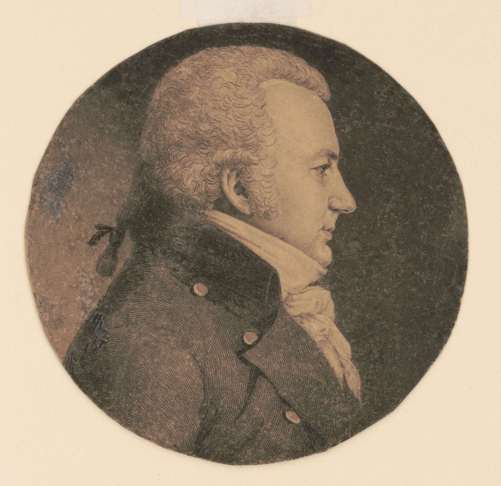 Henry Miercken, head-and-shoulders portrait, right profile