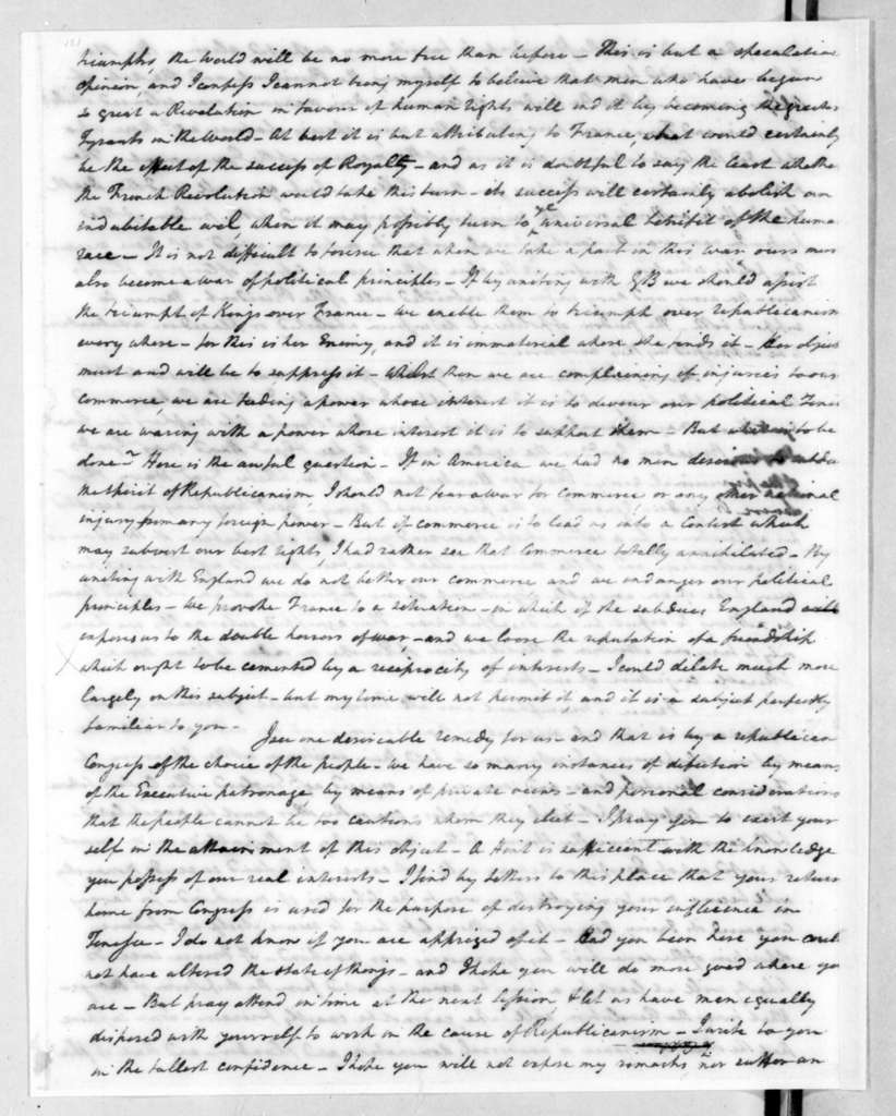 Henry Tazewell to Andrew Jackson, July 20, 1798
