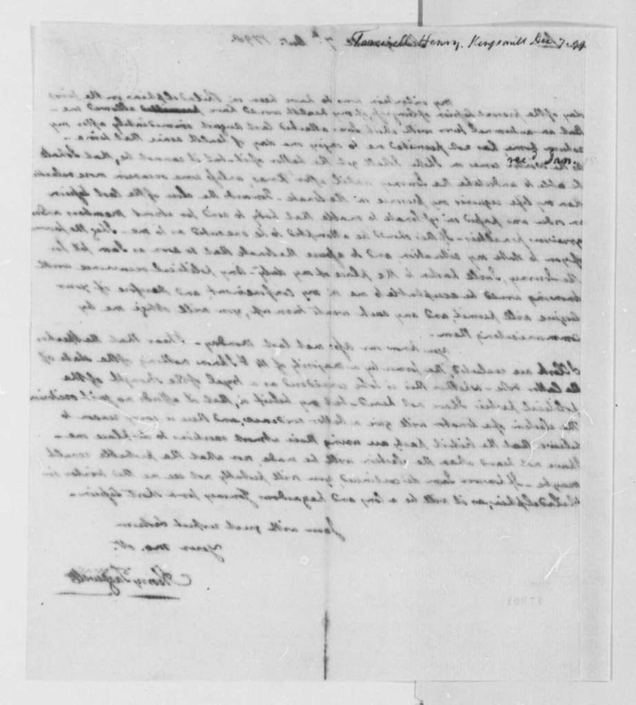 Henry Tazewell to Thomas Jefferson, December 7, 1798