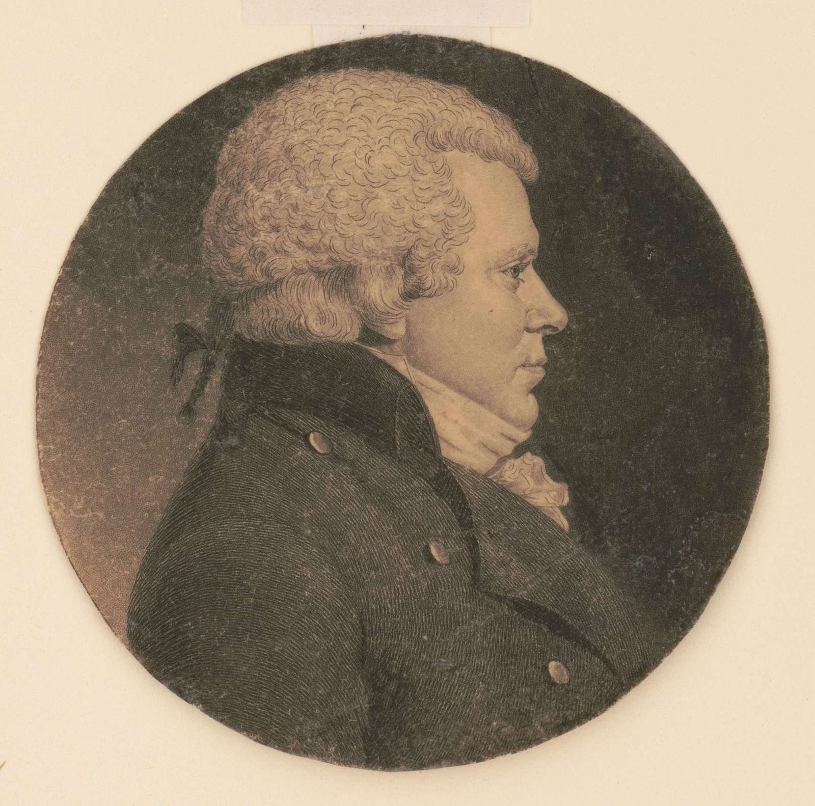 Identified as William Hudson, head-and-shoulders portrait, right profile
