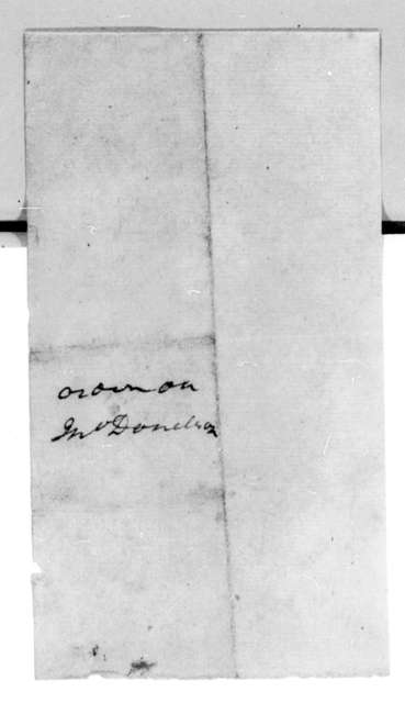 John Donelson to Andrew Jackson, March 20, 1798