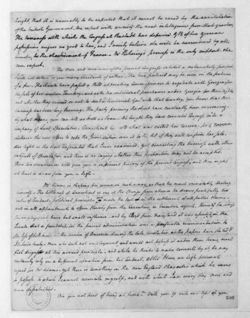 John Taylor to Henry Tazewell, March 18, 1798.
