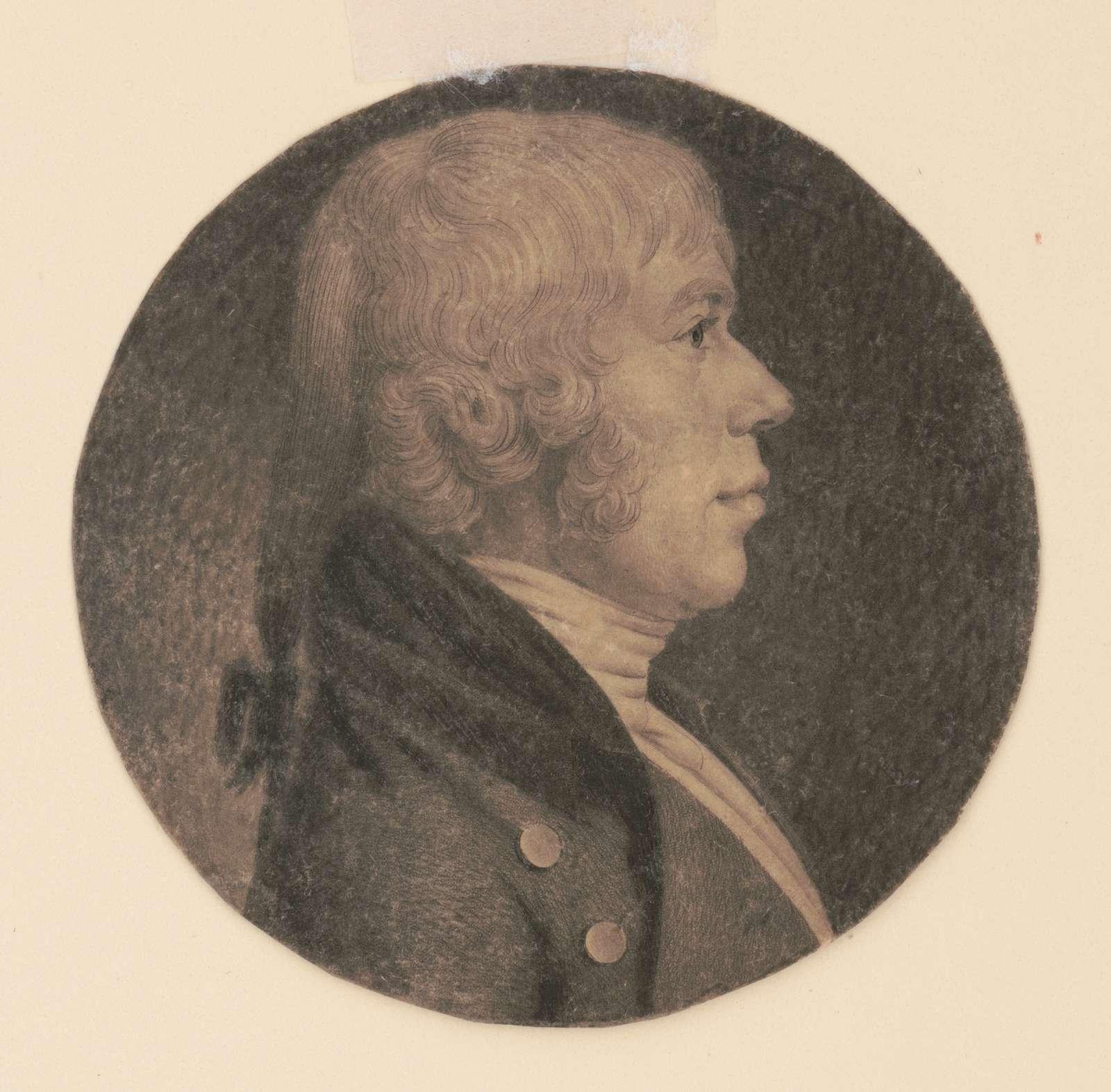 Joseph Mouchet, head-and-shoulders portrait, right profile