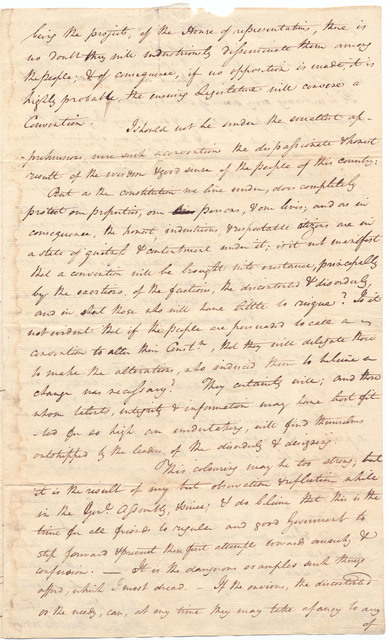 Letter from John Breckinridge to Isaac Shelby