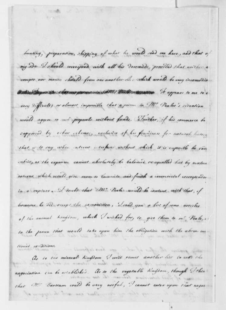 Louis de Parme to Thomas Jefferson, March 30, 1798
