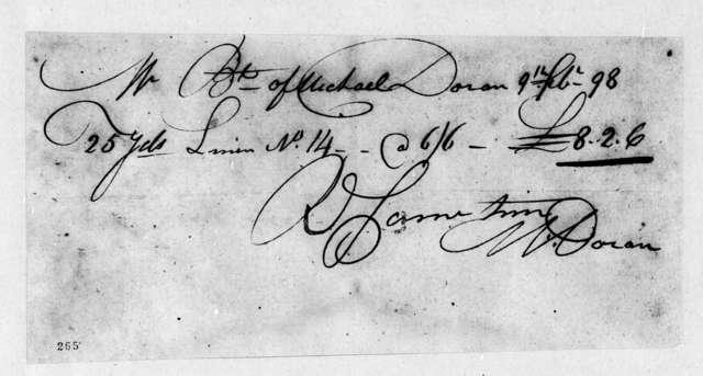 M. Doran, February 9, 1798