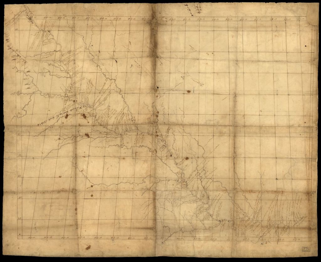 [Map of Missouri River and vicinity from Saint Charles, Missouri, to Mandan villages of North Dakota : used by Meriwether Lewis and William Clark in their 1804 expedition up Missouri River].