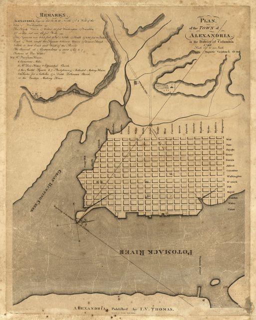 Plan of the town of Alexandria in the District of Columbia, 1798 /