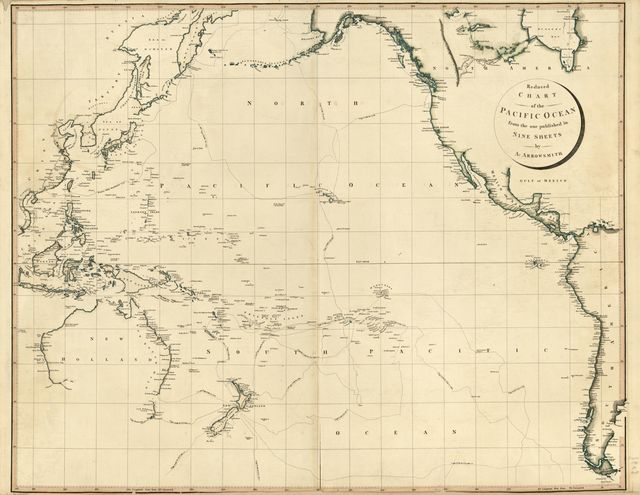 Reduced chart of the Pacific Ocean : from the one published in nine sheets /