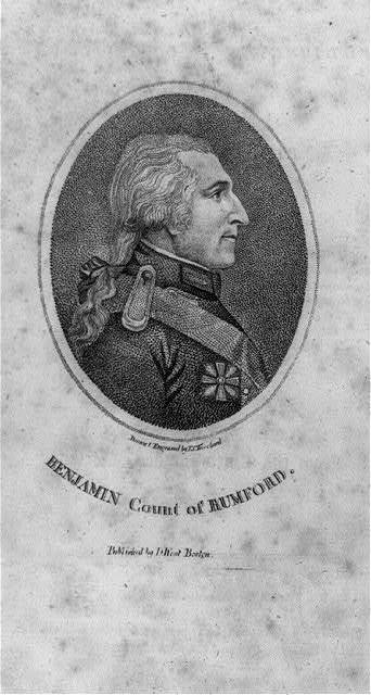 [Sir Benjamin Thompson Rumford, Count, 1753-1814, head and shoulders portrait, right profile]