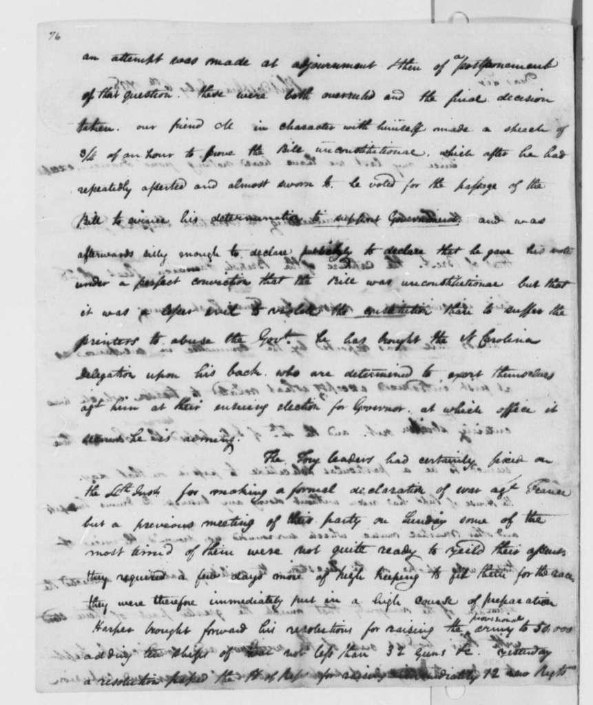 Stevens T. Mason to Thomas Jefferson, July 6, 1798