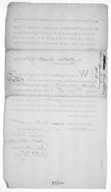 """The Board of commissioners appointed in the state of New-Hampshire, in pursuance of an Act of Congress passed on the 9th day of July, 1798, entitled """"An act to provide for the valuation of lands and dwelling-houses, and the enumeration of slaves"""