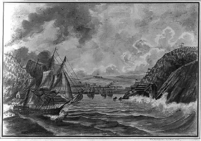 The narrows near New York 1798 / JFP.