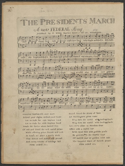 The  presidents march: a new federal song