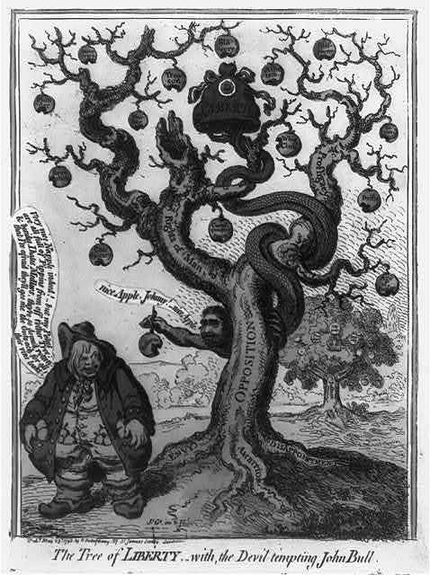 The tree of liberty,-with, the devil tempting John Bull / Js. Gy. inv. & ft.