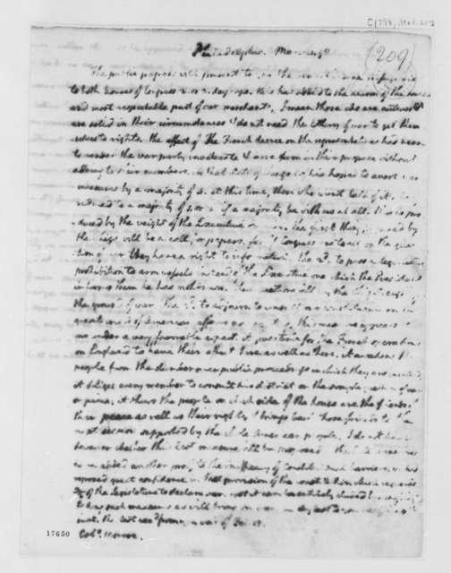 Thomas Jefferson to James Monroe, March 21, 1798