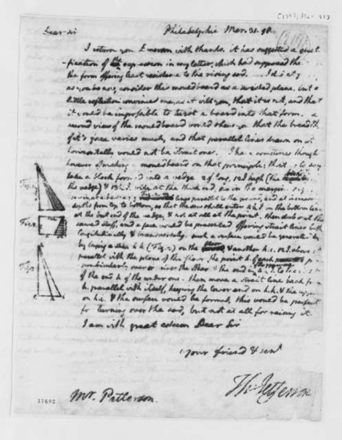 Thomas Jefferson to Robert Patterson, March 31, 1798