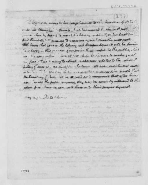 Thomas Jefferson to Timothy Pickering, May 11, 1798