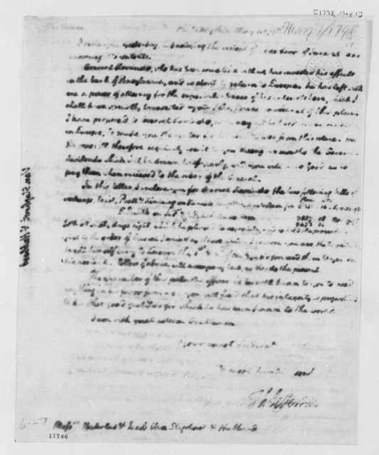 Thomas Jefferson to Van Staphorst & Hubbard, May 1, 1798, Illegible