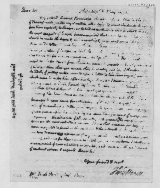 Van Staphorst & Hubbard to Thomas Jefferson, May 30, 1798, Illegible