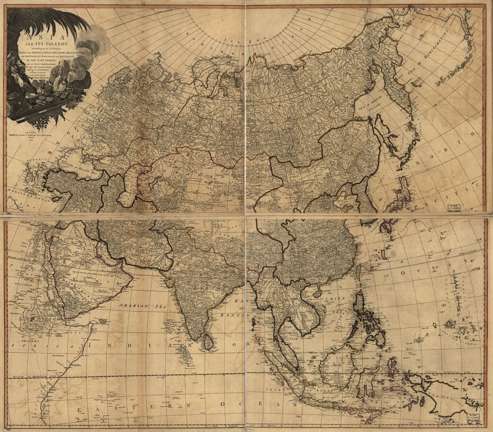 Asia and its islands according to D'Anville.
