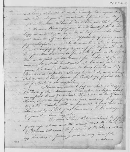 Daniel Clark, Jr. to Thomas Jefferson, February 12, 1799