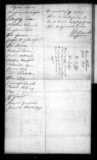 December 17, 1799, Prince William, For sale of Dittengin Parish glebe.