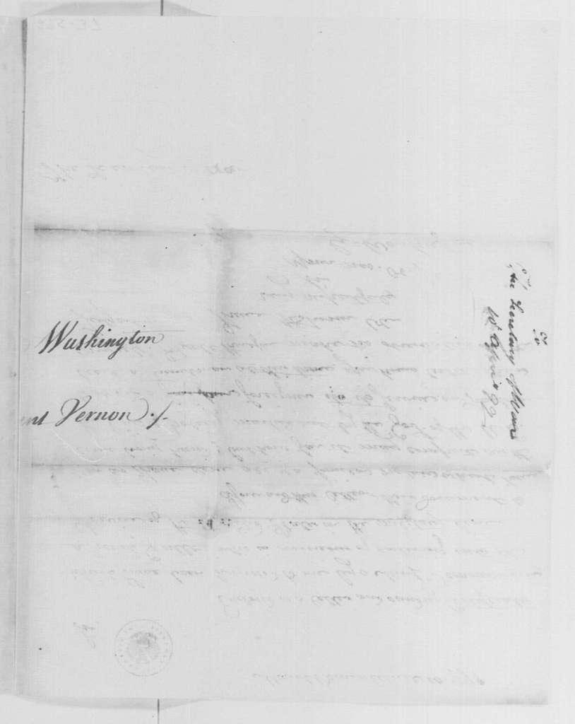 George Washington Papers, Series 4, General Correspondence: George Washington to James McHenry, April 10, 1799