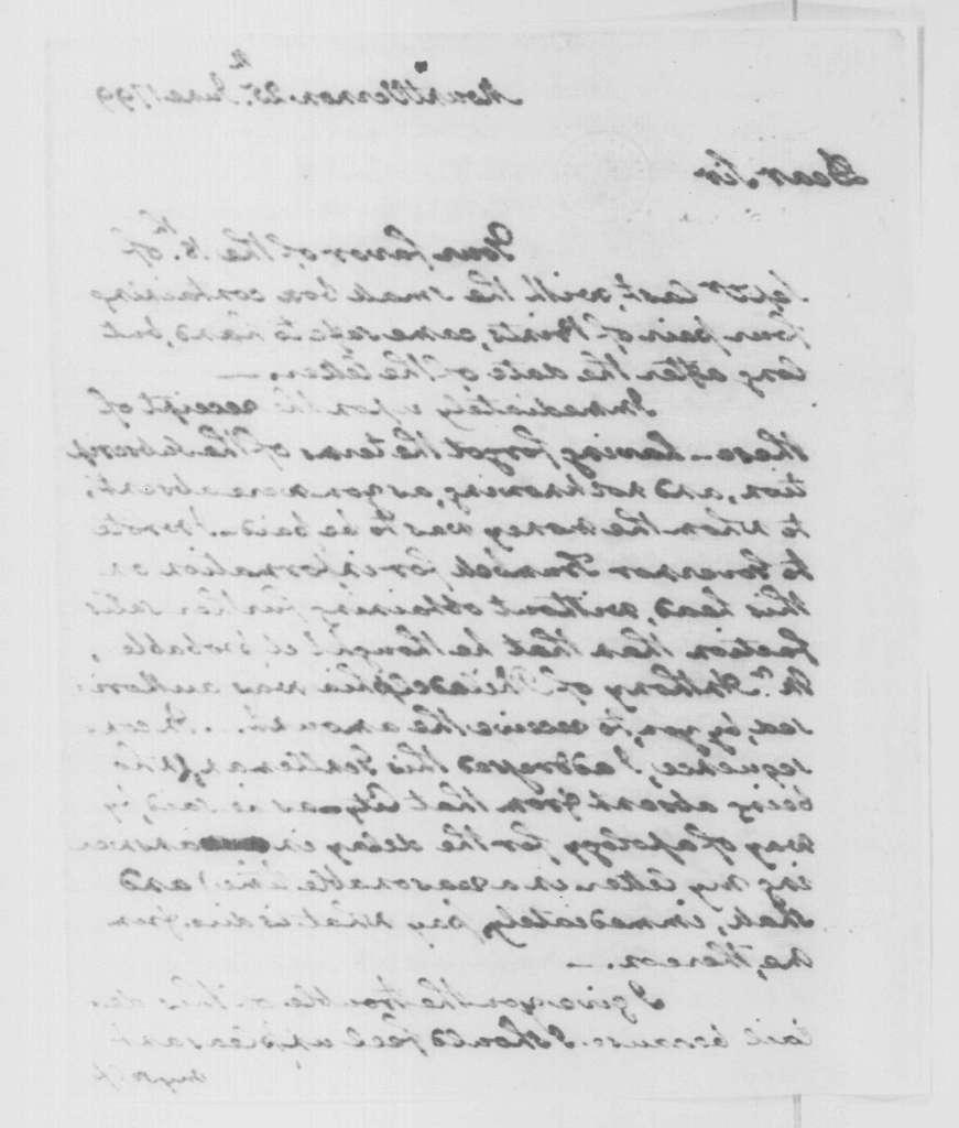George Washington Papers, Series 4, General Correspondence: George Washington to John Trumbull, June 25, 1799